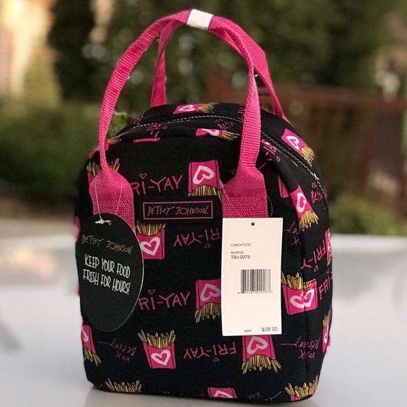 Betsey Johnson Handbags - Betsey Johnson Insulated Lunch Tote Friyay